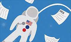 Nobody escapes U.S. taxes - even astronauts