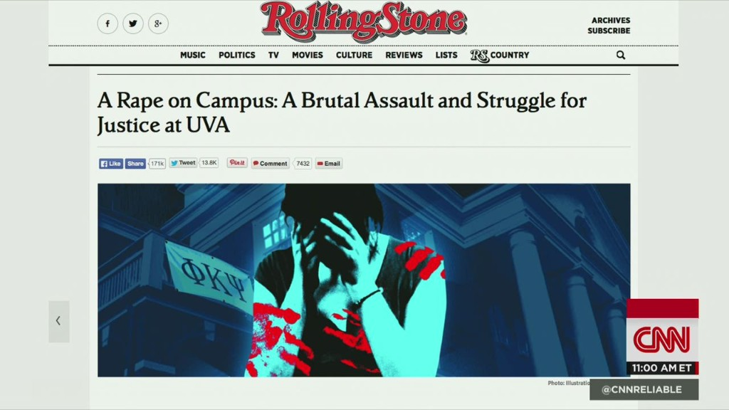 Rolling Stone steps back from rape article