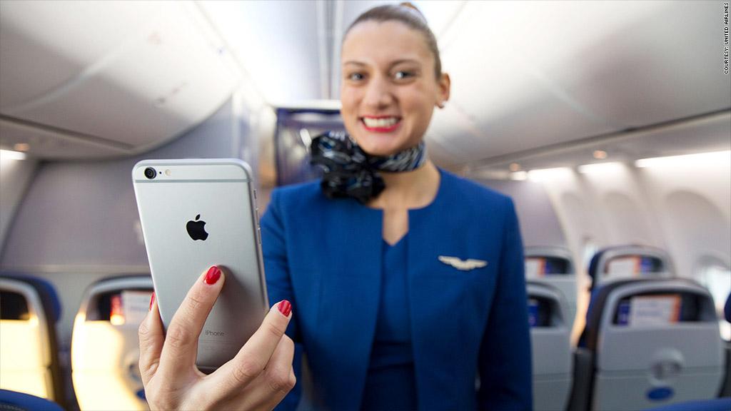 united airlines iphones