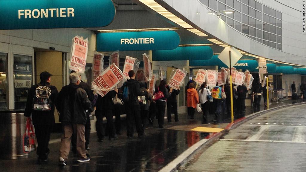 sf airport strike