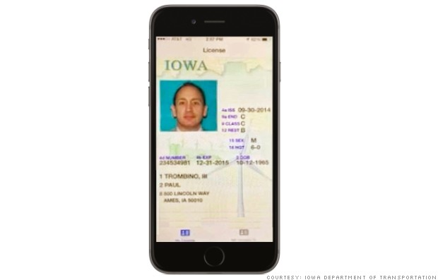 Iowa replaces drivers license with app