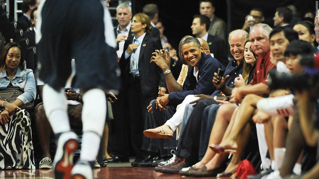 obama basketball game