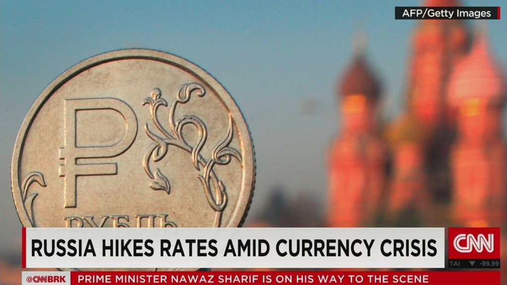 Russia hikes rates amid currency crisis