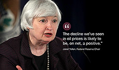 Yellen: Cheap oil is good for America