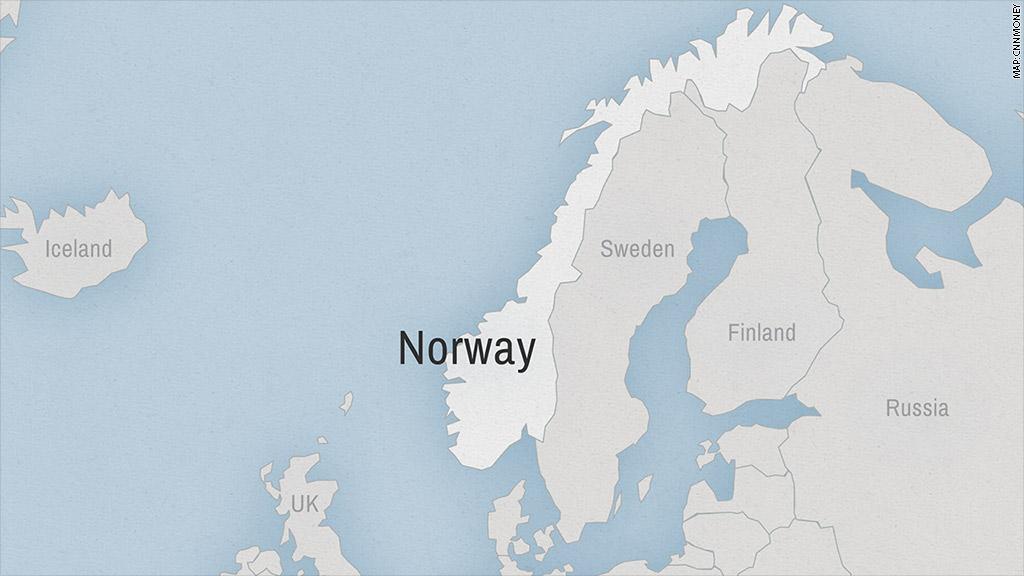 Norwegians Love Tesla Even More Than Americans Dec - Norway map 2014