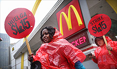 McDonald's violated worker rights: NLRB
