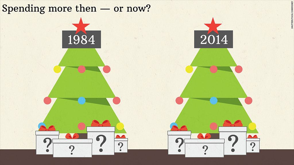christmas spending then now