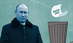Russia debt closer to junk status