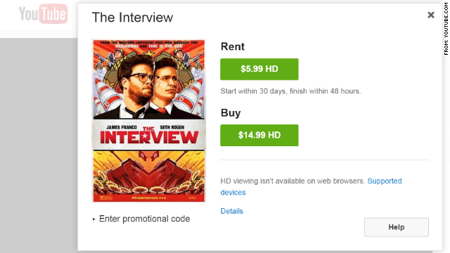'The Interview' recauda 15 millones de dólares con 2 millones de vistas en internet