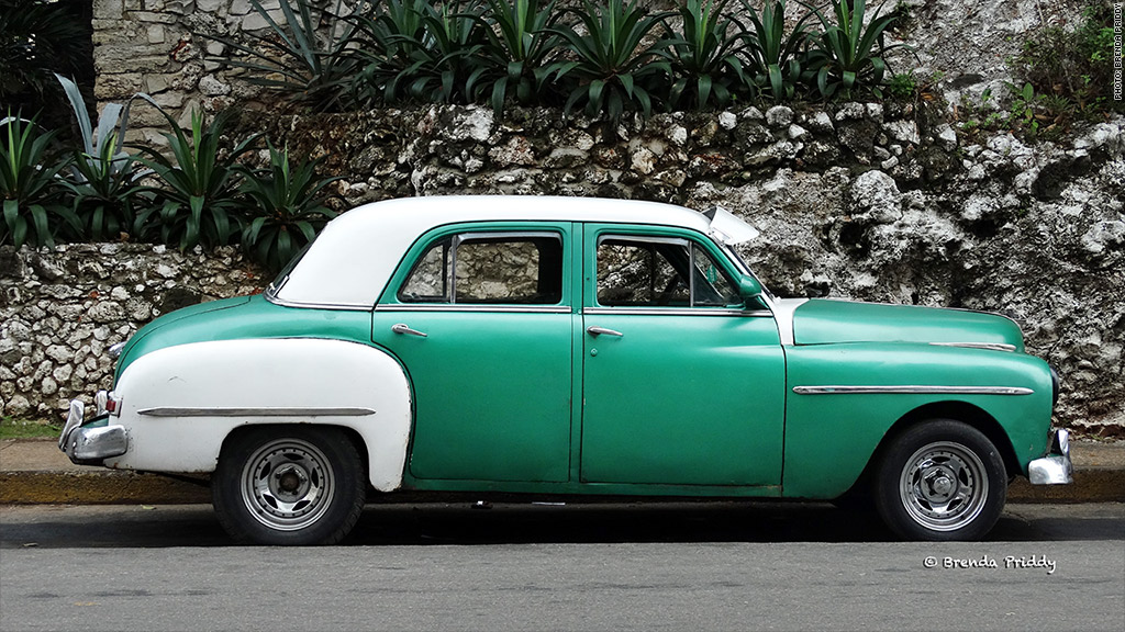 cuban cars green white