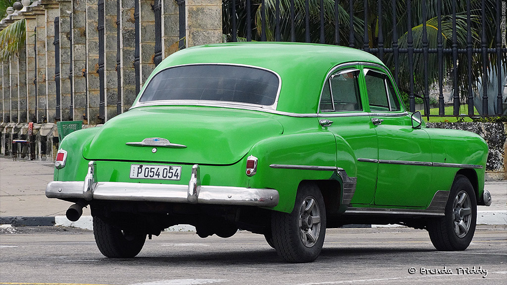 cuban cars havana lime green