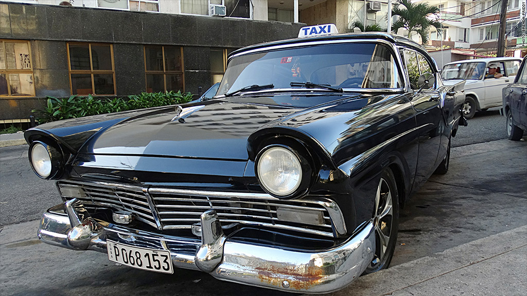 cuban cars taxi