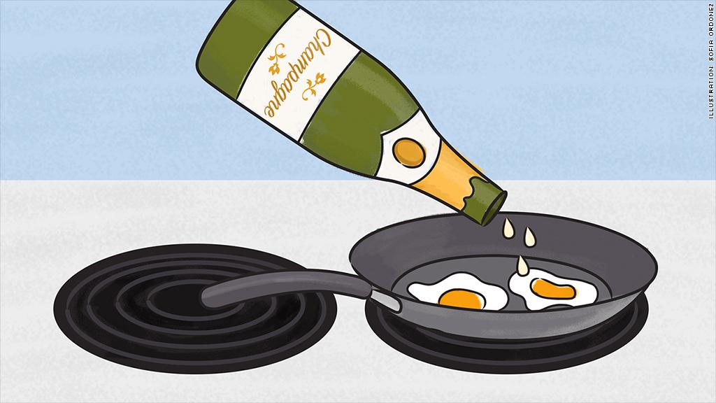 champagne food