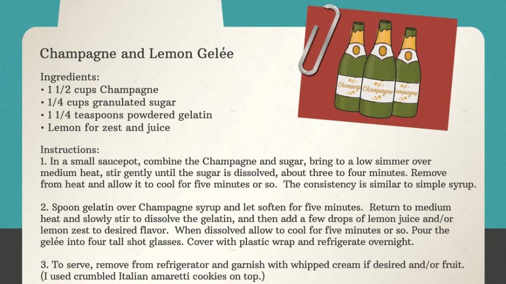 champagne recipe