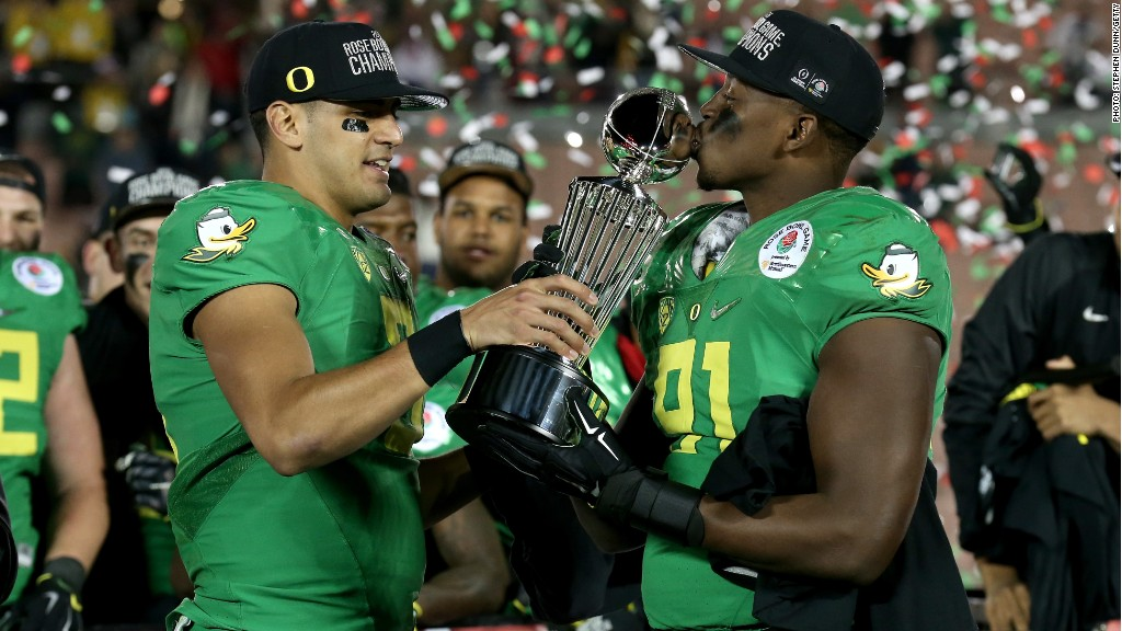 oregon ducks celebration