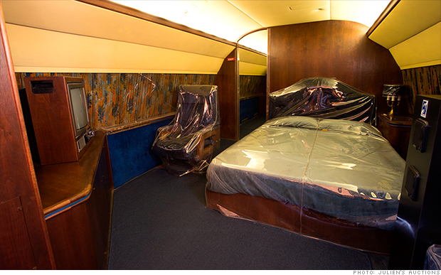 This is where the King of Rock and Roll slept.