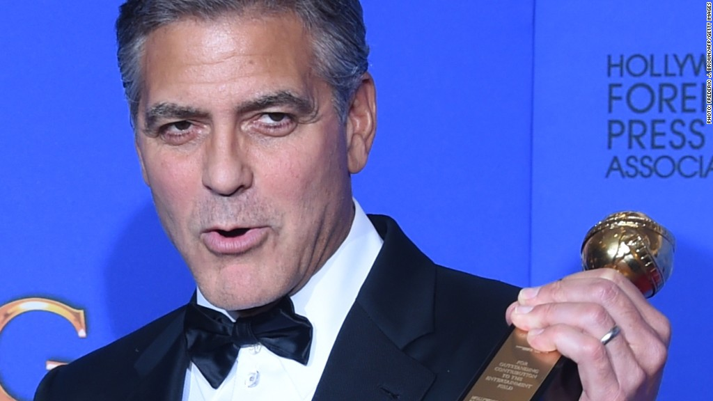 George Clooney's Golden Globes speech in :60