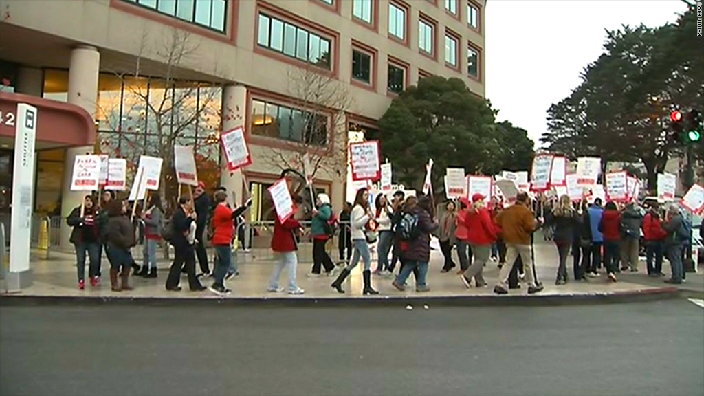 kaiser permanente hospital strikes