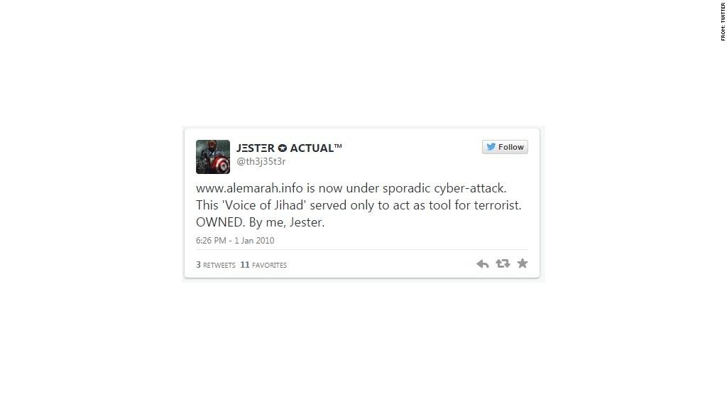 jester first tweet