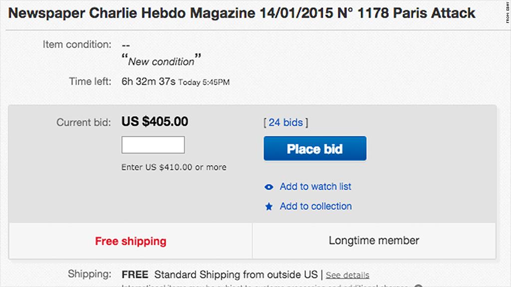 charlie hebdo ebay
