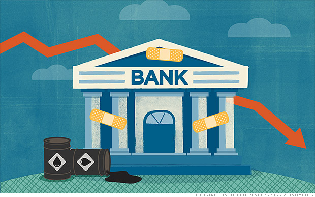 oil stocks hurting banks