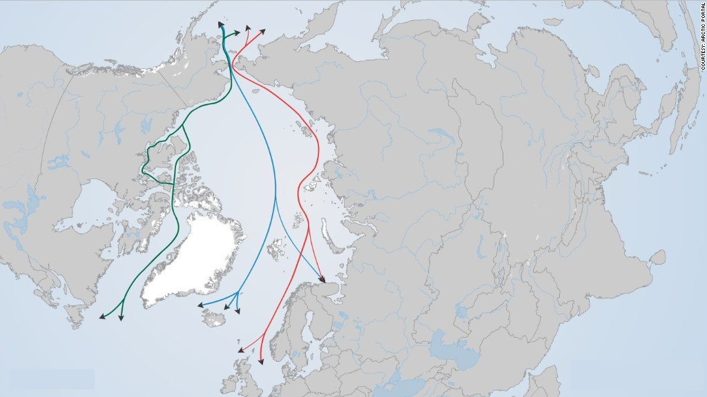 climate change arctic shipping routes