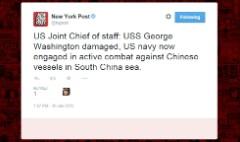 Hacked news companies tweet Chinese fired on U.S. warship