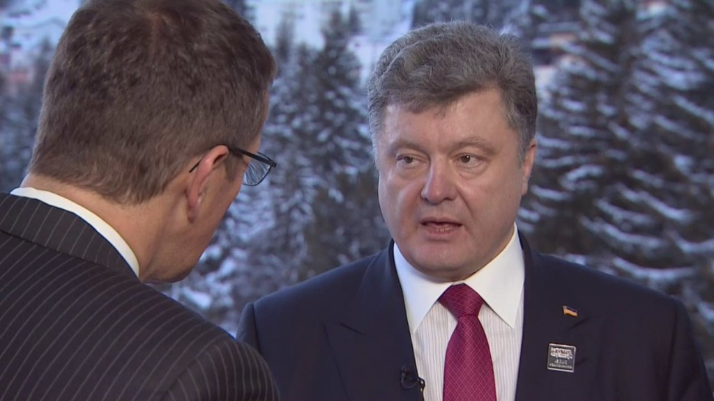 Ukrainian president defiant in Davos