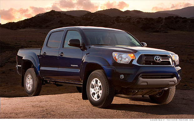 mid size truck toyota tacoma kbb 39 s best resale value cars cnnmoney. Black Bedroom Furniture Sets. Home Design Ideas