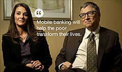 Bill & Melinda Gates' next target: banking