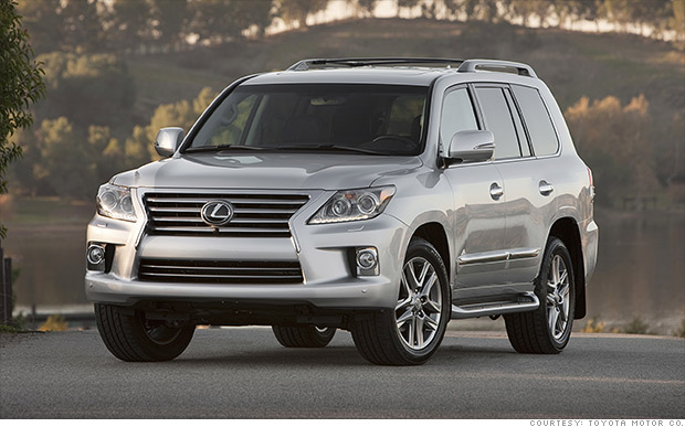 luxury full size suv lexus lx 570 kbb 39 s best resale value cars cnnmoney. Black Bedroom Furniture Sets. Home Design Ideas