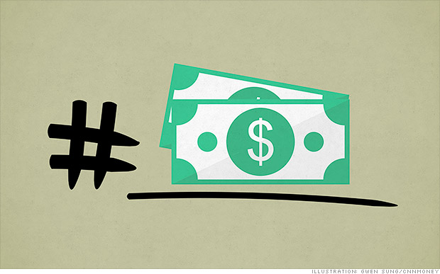 Hashtag #money. The business of the pound sign
