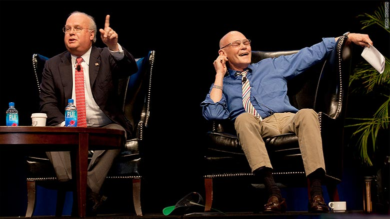 karl rove james carville conference