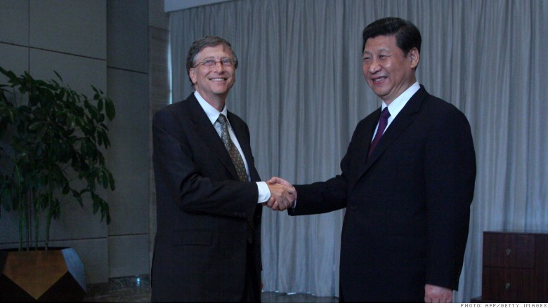 bill gates Xi Jinping