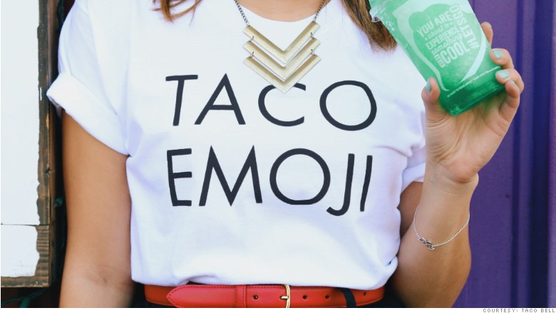 taco emoji t-shirt
