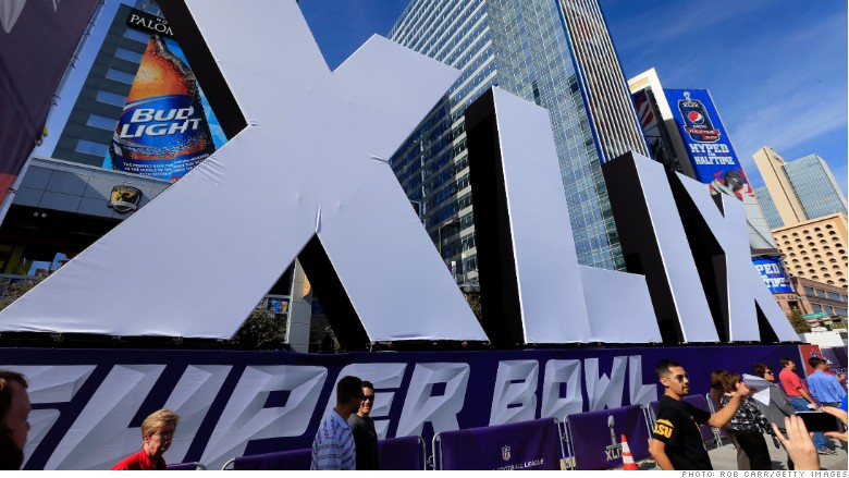 Super Bowl XLIX sign