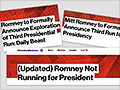 Oops! News sites backtrack on reports Romney is running