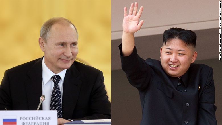 putin kim jong un split screen