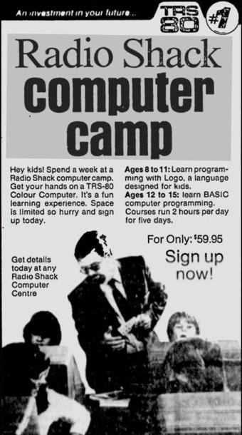 radioshack ad computer camp