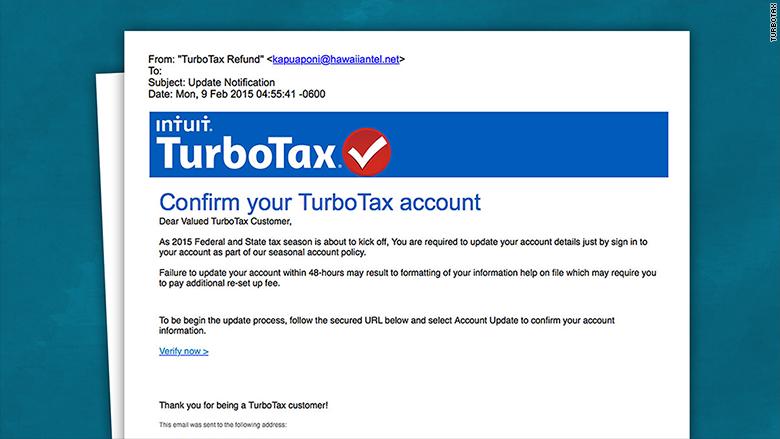fake turbotax email
