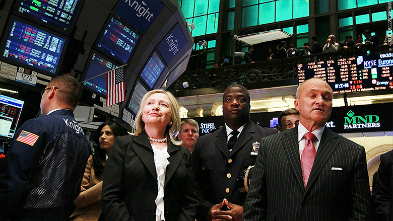Wall Street isn't worried about Clinton's plan