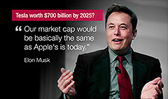 Elon Musk's 'insane' call: Tesla worth $700 billion
