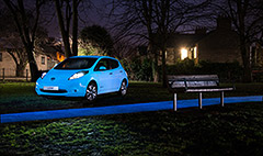 Nissan makes glow-in-the-dark car