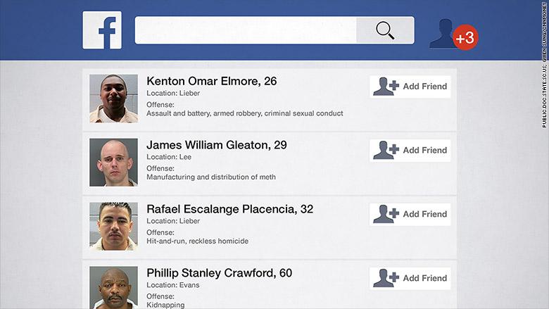 inmates using facebook