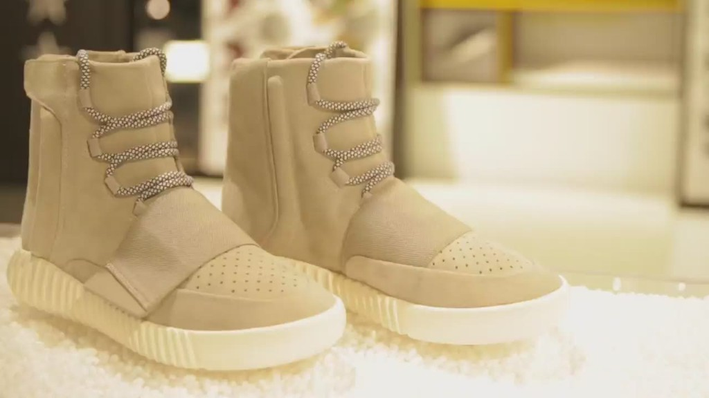 Kanye's sneakers are selling for thousands