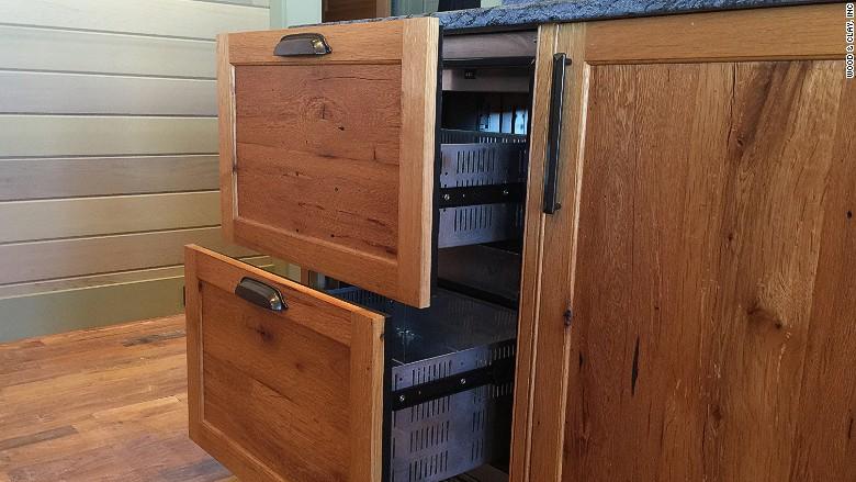 kitchen fridge drawers