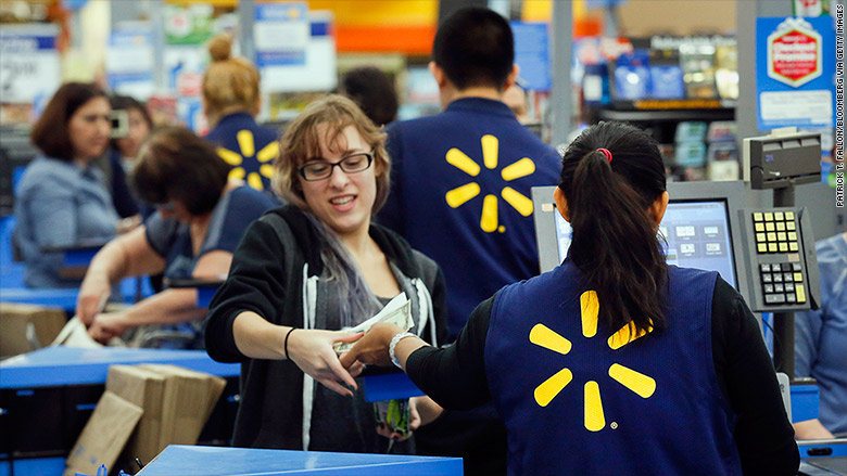 Walmart ups pay above minimum wage