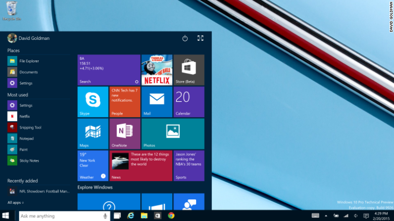 windows 10 start menu small