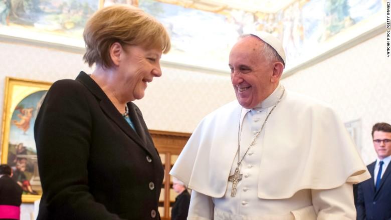 pope francis angela merkel