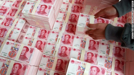 China under pressure as money flees country